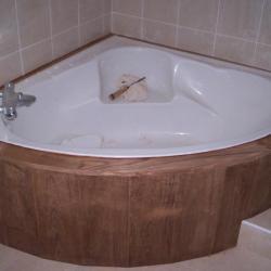 Habillage jupe baignoire
